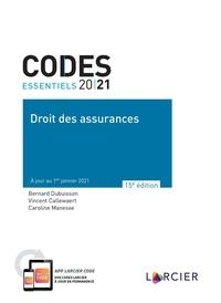 Vincent Callewaert et Bernard Dubuisson - Code essentiel - Droit des assurances 2021 - À jour au 1<sup>er</sup> janvier 2021.
