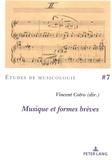 Vincent Cotro - Musique et formes brèves.