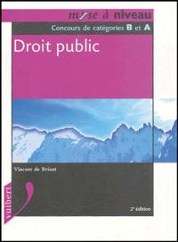 Vincent de Briant - Droit public - Concours de catégories Bet A.