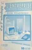 Vincent Delamare et Chantal Delaunay-Delamare - L'entreprise, l'activité économique - Guide pédagogique : technologie en tertiaire, notions essentielles, travaux, démarches d'apprentissage. 4e et 3e technologiques.