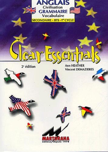 Vincent Demazières - Clear Essentials Anglais BTS 1er cycle.