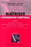 Vincent Dousse et Alfred Stettler - Maîtriser l'information comptable - Tome 3.