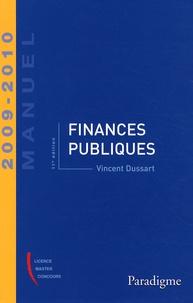 Vincent Dussart - Finances publiques 2009-2010.