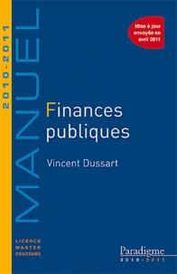 Vincent Dussart - Finances publiques 2010-2011.