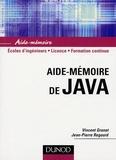 Vincent Granet et Jean-Pierre Regout - Aide-mémoire de Java.