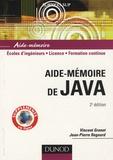 Vincent Granet et Jean-Pierre Regourd - Aide-mémoire de Java.