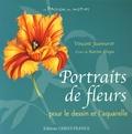 Vincent Jeannerot et Karine Ciupa - Portraits de fleurs - Dessins et aquarelles.