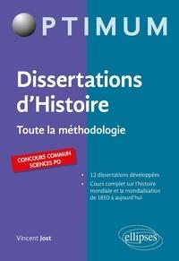 Vincent Jost - Dissertations d'Histoire - Toute la méthodologie.