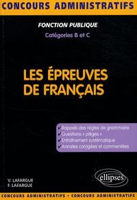 Vincent Lafargue - Les épreuves de français - Concours de catégories B et C.