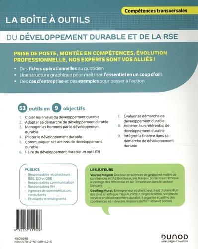 La boîte à outils du développement durable et de la RSE. 53 outils clés en main
