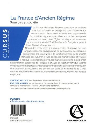 La France d'Ancien Régime. Pouvoirs et société