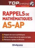 Vincent Pernet - Rappels de mathématiques AS-AP.
