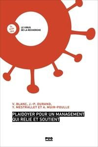 Violaine BLANC et Jean-Paul Durand - Plaidoyer pour un management qui relie et soutient.