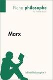 Violette Bastin et  LePetitPhilosophe.fr - Philosophe  : Marx (Fiche philosophe) - Comprendre la philosophie avec lePetitPhilosophe.fr.