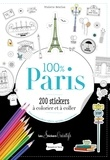 Violette Bénilan - 100 % Paris - 200 stickers à colorier.