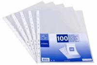 VIQUEL - 100 pochettes perforées transparentes A4 - qualité supérieure