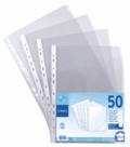 VIQUEL - 50 pochettes perforées transparentes A4
