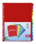 VIQUEL - Intercalaires A4 maxi  12 positions