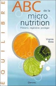 Virginie Bales - ABC de la Micronutrition.