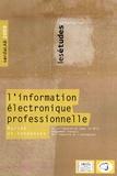 Virginie Boillet - L'information électronique professionnelle en France : le marché en 2007 et les tendances 2008-2009.