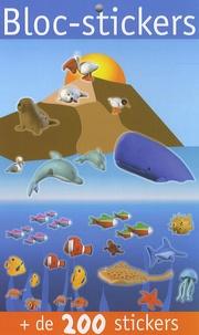 Virginie Chiodo - Bloc-stickers animaux de la mer - + de 200 stickers.