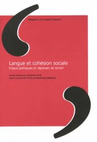 Virginie Conti et Jean-François de Pietro - Langue et cohésion sociale - Enjeux politiques et réponses de terrain.