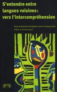 Virginie Conti et François Grin - S'entendre entre langues voisines : vers l'intercompréhension.