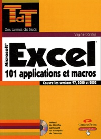 Goodtastepolice.fr Excel - 101 applications et macros, Couvre les versions 97, 2000 et 2002 Image