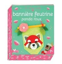 Virginie Humbert - Bannière feutrine panda roux - Avec 2 baguettes, de la feutrine, 1 tube de colle, 1 pelote, 1 pompon et 2 yeux en plastique.
