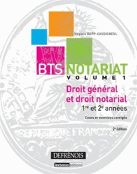 Icar2018.it BTS Notariat Droit général et droit notarial - Volume 1 Image