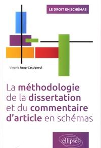 Virginie Rapp-Cassigneul - La méthodologie de la dissertation et du commentaire d'article en schémas.