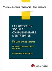 La protection sociale complémentaire d'entreprise - Virginie Renaux-Personnic pdf epub