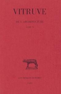 Vitruve - Vitruse De l'architecture livre 6.