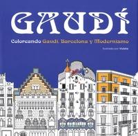 Viuleta - Gaudi - Coloreando Gaudi, Barcelona y Modernismo.