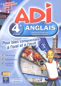 Collectif - ADI anglais 4ème. - 2 CD-ROM.