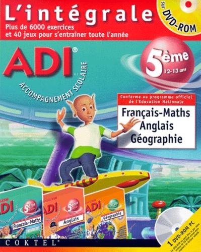Adi L Integrale 5eme Francais Maths Anglais Geographie Dvd Rom