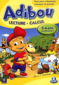 Scansoft - Adibou lecture calcul 5-6 ans maternelle 3, boîtier DVD. - 2 CD-ROM.