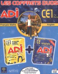 Coktel - Français-Maths-Anglais CE1 - Les coffret duos. 3 Cédérom