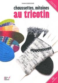 Viviane Deroover - Chaussettes, mitaines au tricotin.