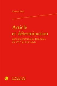 Alixetmika.fr Article et détermination dans les grammaires françaises du XVIIe au XIXe siècle Image