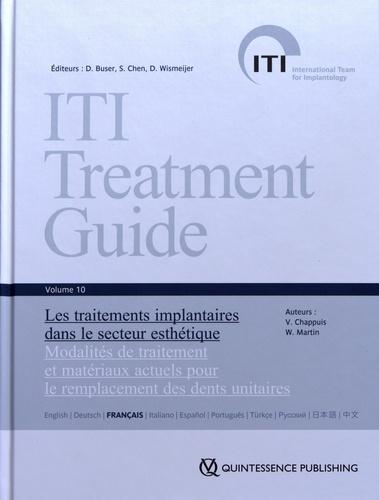 Vivianne Chappuis et William Martin - Les traitements implantaires dans le secteur esthétique - Modalités de traitement et matériaux actuels pour le remplacement des dents unitaires.