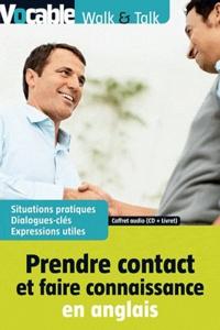 Vocable - Prendre contact et faire connaissance en anglais - Coffret : livret. 1 CD audio