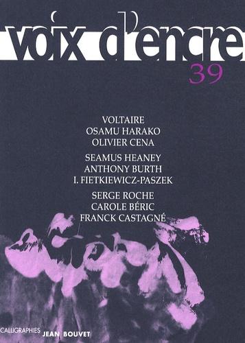 Voltaire et Osamu Harako - Voix d'encre N°39 : .