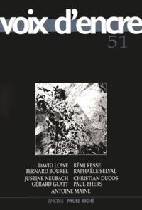Alain Blanc et Jean-Pierre Chambon - Voix d'encre N° 51 : .