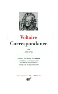 Voltaire - Correspondance - Tome 13, Juillet 1777 - Mai 1778.