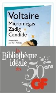 Voltaire - La bibliothèque idéale des 50 ans GF Tome 18 : Micromégas ; Zadig ; Candide.