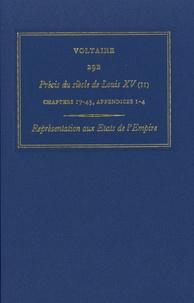 Voltaire - Les oeuvres complètes de Voltaire - Tome 29B, Précis du siècle de Louis XV (II) Représentation aux Etats de l'Empire.