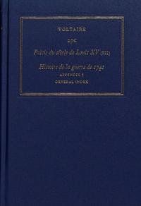 Voltaire - Les oeuvres complètes de Voltaire - Tome 29C, Précis du siècle de Louis XV (III) Histoire de la guerre de 1741.