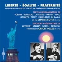 Voltaire et Victor Hugo - Liberté, égalité, fraternité.