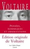 Voltaire - Pensées, remarques et observations.